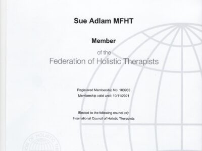 Certificate of Professional Membership of the FHT 183965 valid until 10.11.2021